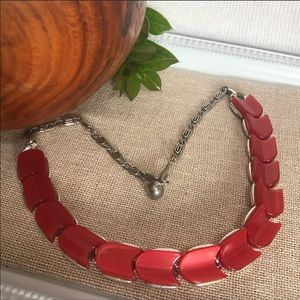 Lisner Vintage Cherry Red Thermoset Necklace